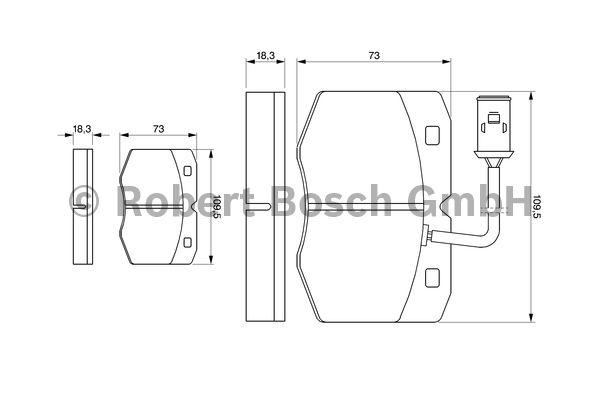 Kit de plaquettes de frein, frein à disque - BOSCH - 0 986 424 240