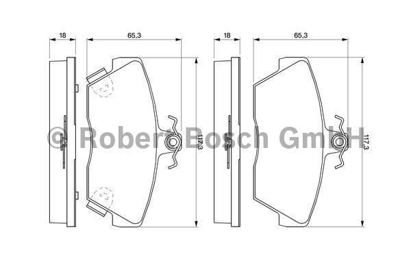 Kit de plaquettes de frein, frein à disque - BOSCH - 0 986 424 244