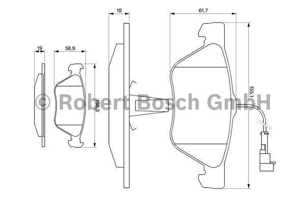 Kit de plaquettes de frein, frein à disque - BOSCH - 0 986 494 004