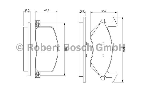 Kit de plaquettes de frein, frein à disque - BOSCH - 0 986 424 264