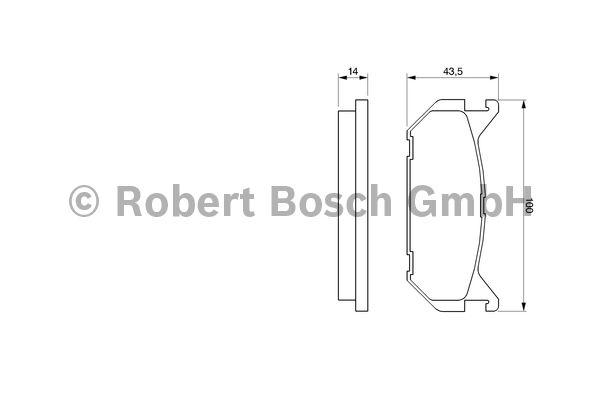 Kit de plaquettes de frein, frein à disque - BOSCH - 0 986 424 266