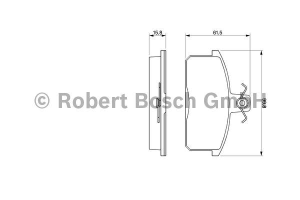 Kit de plaquettes de frein, frein à disque - BOSCH - 0 986 424 274