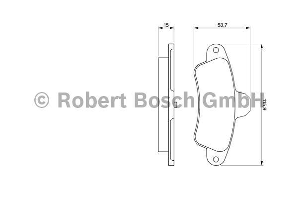Kit de plaquettes de frein, frein à disque - BOSCH - 0 986 424 277