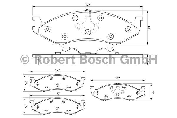 Kit de plaquettes de frein, frein à disque - BOSCH - 0 986 424 284