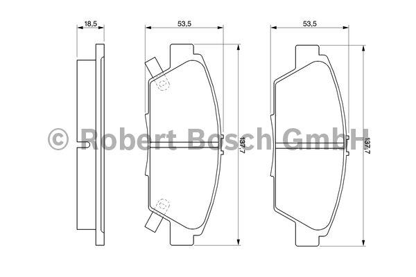 Kit de plaquettes de frein, frein à disque - BOSCH - 0 986 424 289