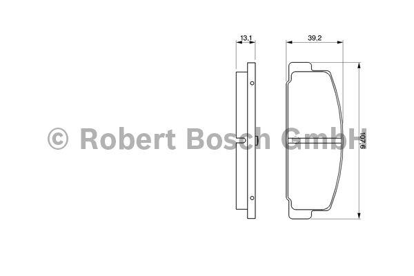 Kit de plaquettes de frein, frein à disque - BOSCH - 0 986 424 295