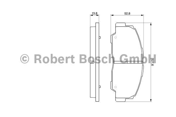 Kit de plaquettes de frein, frein à disque - BOSCH - 0 986 424 297
