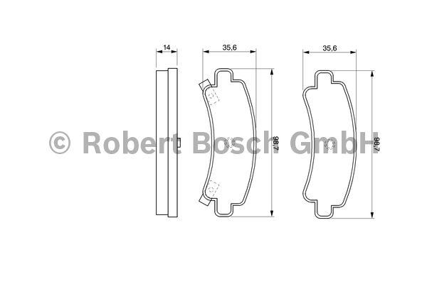 Kit de plaquettes de frein, frein à disque - BOSCH - 0 986 424 299