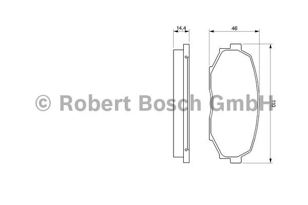 Kit de plaquettes de frein, frein à disque - BOSCH - 0 986 424 303