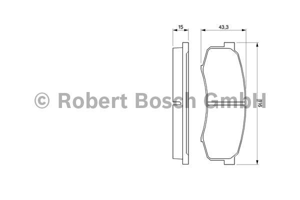 Kit de plaquettes de frein, frein à disque - BOSCH - 0 986 424 313