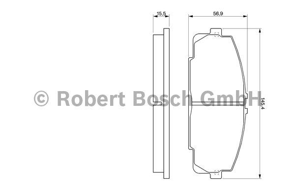Kit de plaquettes de frein, frein à disque - BOSCH - 0 986 424 319