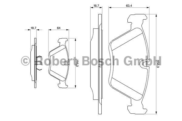 Kit de plaquettes de frein, frein à disque - BOSCH - 0 986 424 351