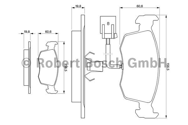 Kit de plaquettes de frein, frein à disque - BOSCH - 0 986 424 352