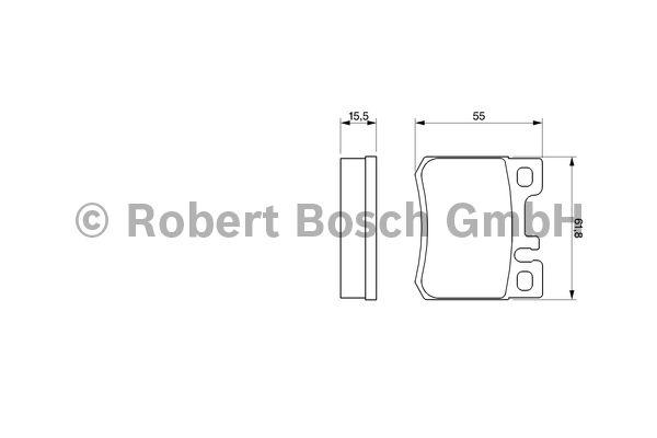 Kit de plaquettes de frein, frein à disque - BOSCH - 0 986 424 358