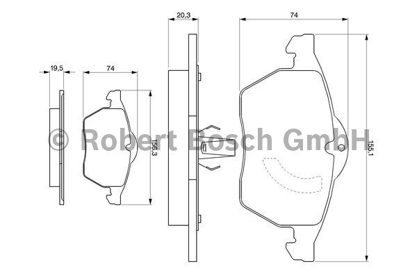 Kit de plaquettes de frein, frein à disque - BOSCH - 0 986 424 360