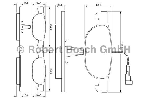 Kit de plaquettes de frein, frein à disque - BOSCH - 0 986 424 362