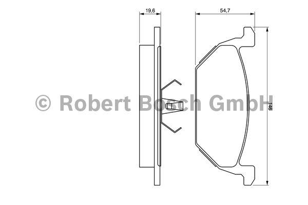 Kit de plaquettes de frein, frein à disque - BOSCH - 0 986 424 364