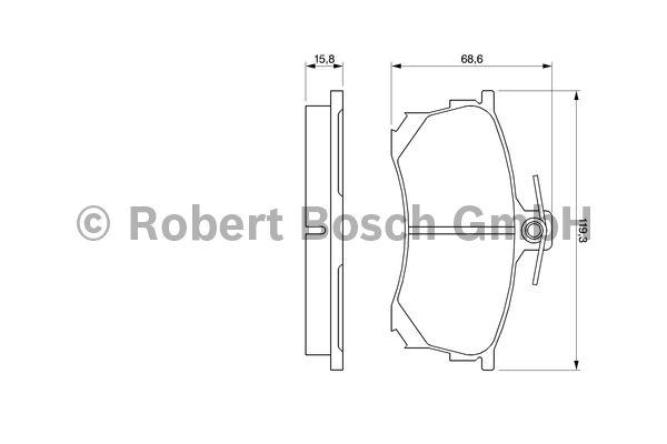 Kit de plaquettes de frein, frein à disque - BOSCH - 0 986 424 370