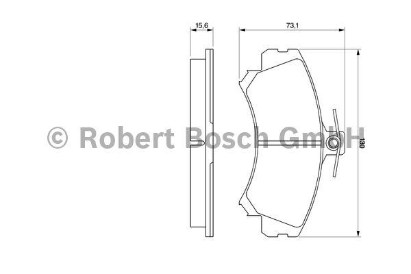 Kit de plaquettes de frein, frein à disque - BOSCH - 0 986 424 371