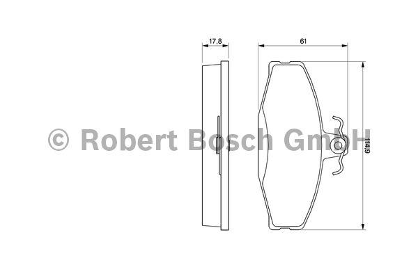 Kit de plaquettes de frein, frein à disque - BOSCH - 0 986 424 373