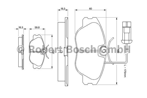 Kit de plaquettes de frein, frein à disque - BOSCH - 0 986 424 374