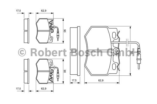 Kit de plaquettes de frein, frein à disque - BOSCH - 0 986 424 376