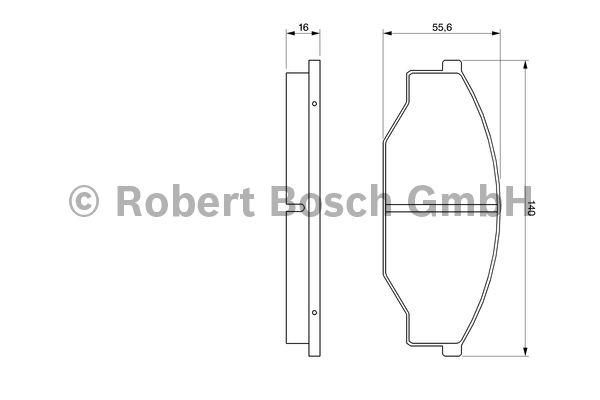 Kit de plaquettes de frein, frein à disque - BOSCH - 0 986 424 382