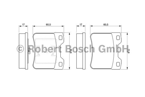 Kit de plaquettes de frein, frein à disque - BOSCH - 0 986 424 411