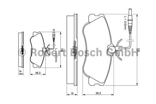 Kit de plaquettes de frein, frein à disque - BOSCH - 0 986 424 414