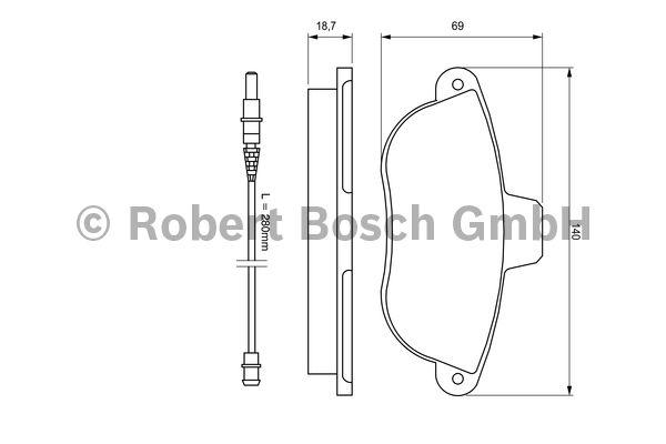 Kit de plaquettes de frein, frein à disque - BOSCH - 0 986 424 415