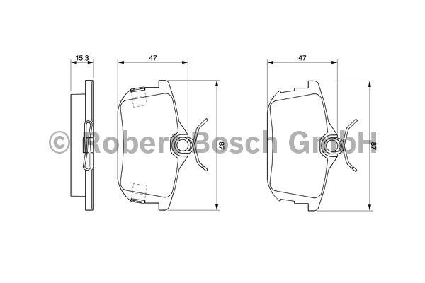 Kit de plaquettes de frein, frein à disque - BOSCH - 0 986 424 427