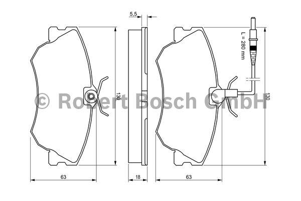 Kit de plaquettes de frein, frein à disque - BOSCH - 0 986 424 451