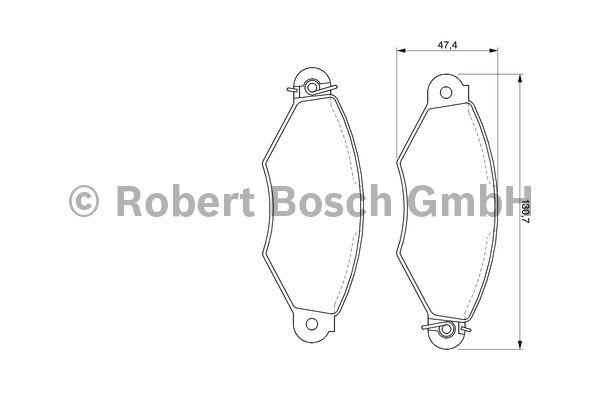 Kit de plaquettes de frein, frein à disque - BOSCH - 0 986 424 453