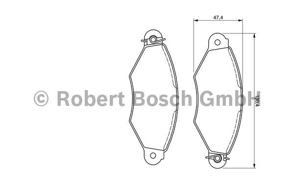 Kit de plaquettes de frein, frein à disque - BOSCH - 0 986 424 455