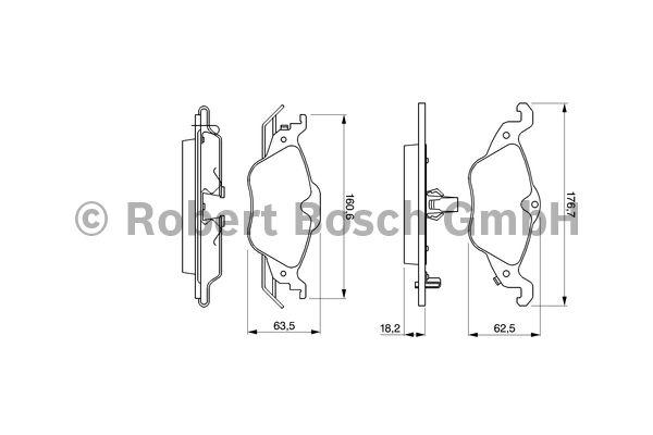 Kit de plaquettes de frein, frein à disque - BOSCH - 0 986 424 456