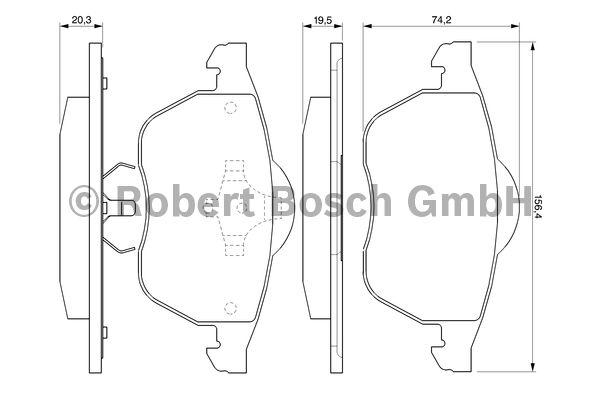 Kit de plaquettes de frein, frein à disque - BOSCH - 0 986 424 460