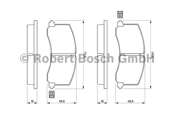 Kit de plaquettes de frein, frein à disque - BOSCH - 0 986 424 465