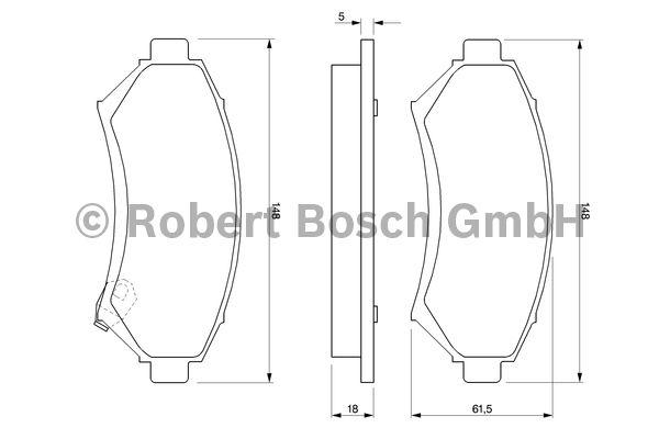 Kit de plaquettes de frein, frein à disque - BOSCH - 0 986 424 466
