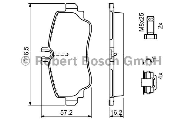 Kit de plaquettes de frein, frein à disque - BOSCH - 0 986 424 469