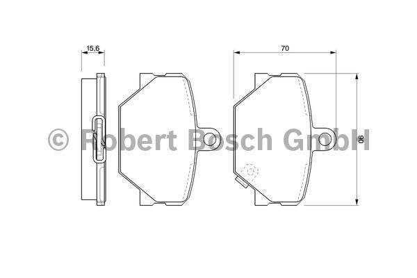 Kit de plaquettes de frein, frein à disque - BOSCH - 0 986 424 471