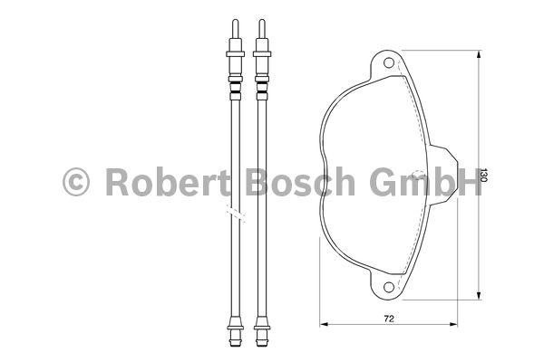 Kit de plaquettes de frein, frein à disque - BOSCH - 0 986 424 473