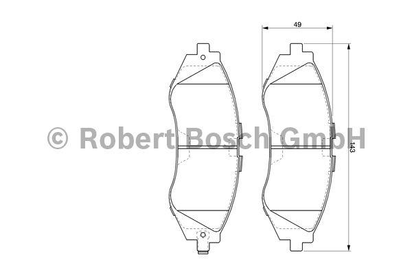 Kit de plaquettes de frein, frein à disque - BOSCH - 0 986 424 474