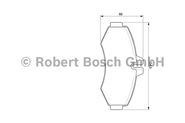 Kit de plaquettes de frein, frein à disque - BOSCH - 0 986 494 013