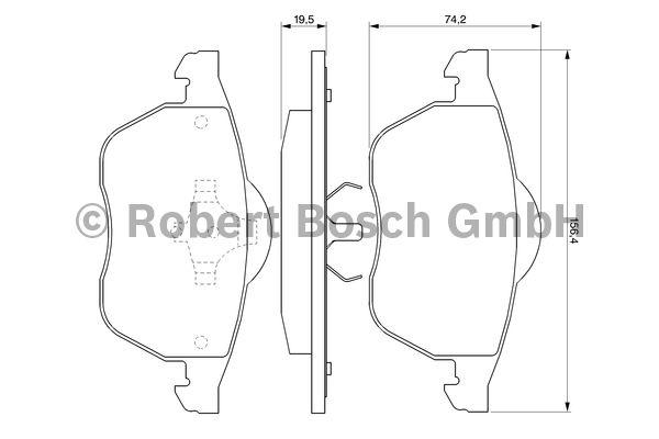 Kit de plaquettes de frein, frein à disque - BOSCH - 0 986 424 481