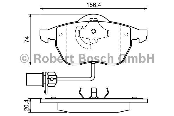 Kit de plaquettes de frein, frein à disque - BOSCH - 0 986 424 482