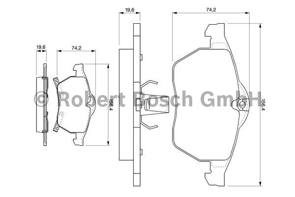 Kit de plaquettes de frein, frein à disque - BOSCH - 0 986 424 488