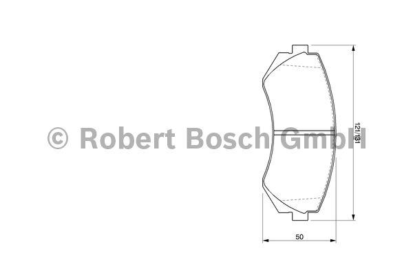 Kit de plaquettes de frein, frein à disque - BOSCH - 0 986 424 489
