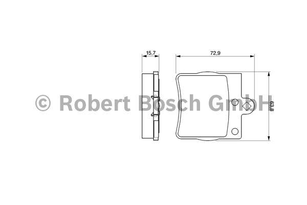 Kit de plaquettes de frein, frein à disque - BOSCH - 0 986 494 016