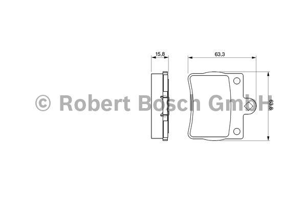 Kit de plaquettes de frein, frein à disque - BOSCH - 0 986 494 017