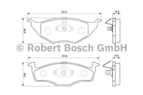 Kit de plaquettes de frein, frein à disque - BOSCH - 0 986 424 502